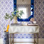 cadre bleu miroir