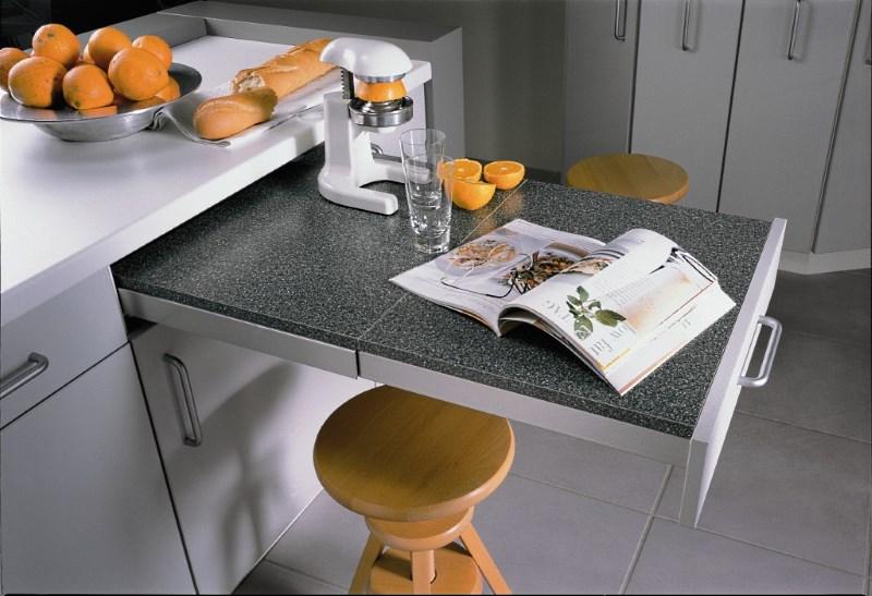 posuvný stůl do kuchyně