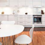 hauteur de la photo de la table de la cuisine