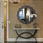 miroir dans le couloir rond