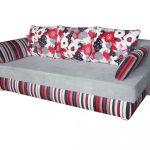 Canapé-lit à rayures orthopédiques