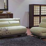 Fauteuil lit sans accoudoirs dans la conception de la chambre