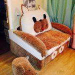 Fauteuil-lit pour les enfants dans la conception