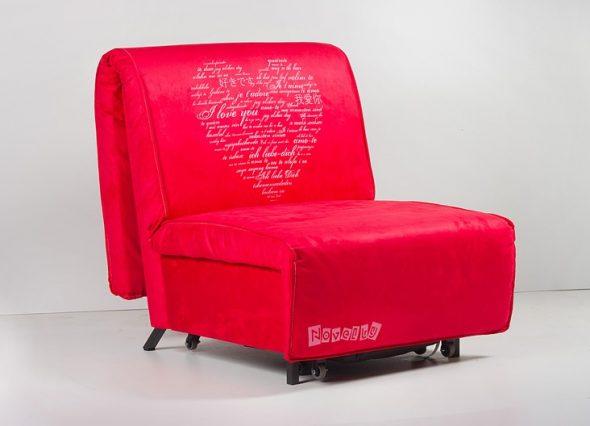 Lit fauteuil rouge