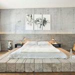 lit design photo en bois