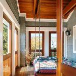 lit en bois massif moderne