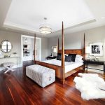 lit en bois massif élégant