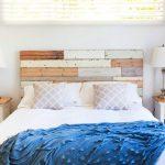 lit double en bois