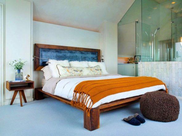lit en bois élégant