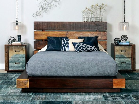 lit en bois moderne