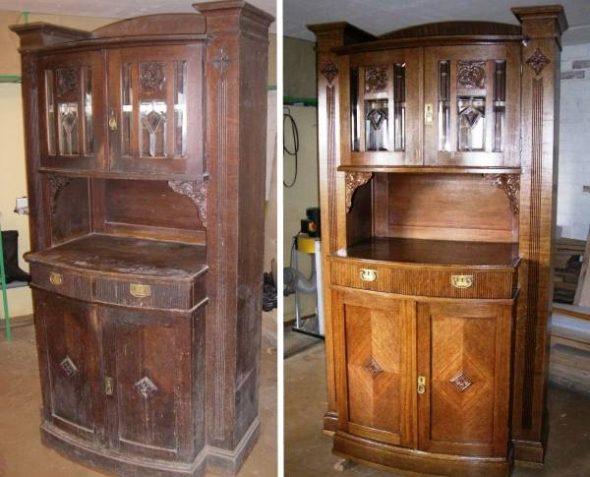 Commode soviétique - Restauration de bricolage avec vernis