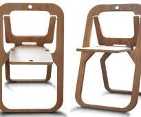 Chaise en contreplaqué de bricolage