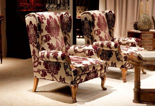 Chaise anglaise bariolée