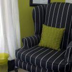 chaise anglaise rayée