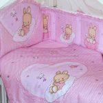 paraurti per neonato rosa