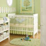 paraurti per il neonato verde