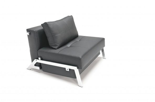 fauteuil en cuir noir