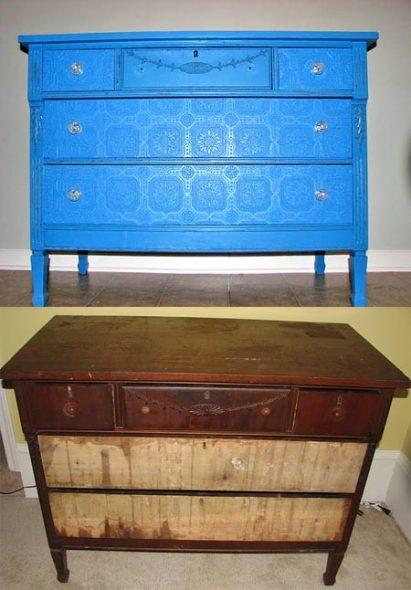meubles de décoration avant et après