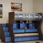 lit superposé avec étagères