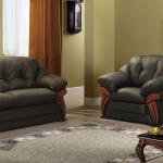 chaise de lit en cuir
