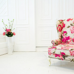 Chaise anglaise rose
