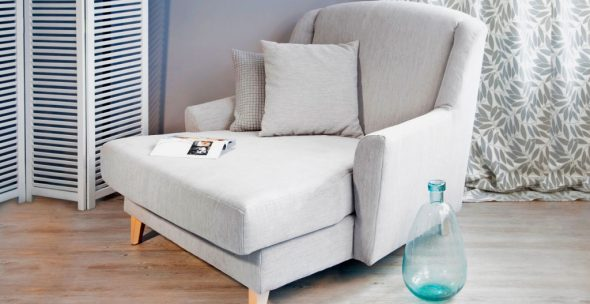 fauteuil-lit blanc