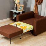 fauteuil-lit marron