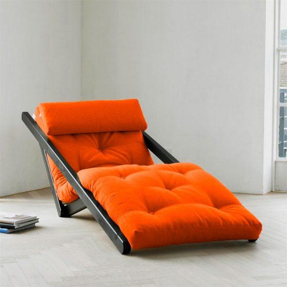 fauteuil-lit rouge