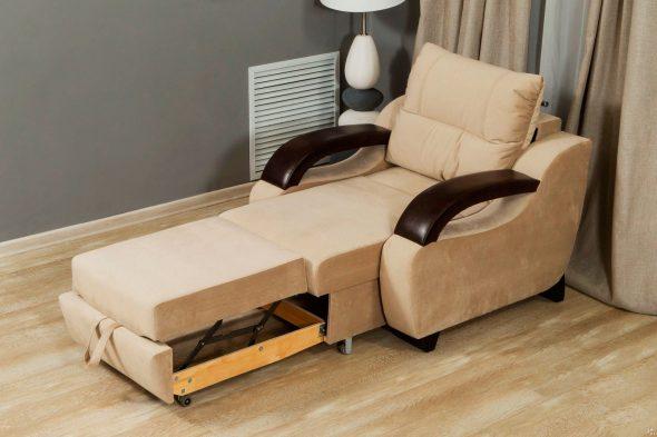 fauteuil-lit décomposé