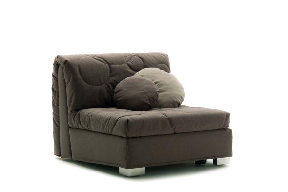 chaise de lit grise