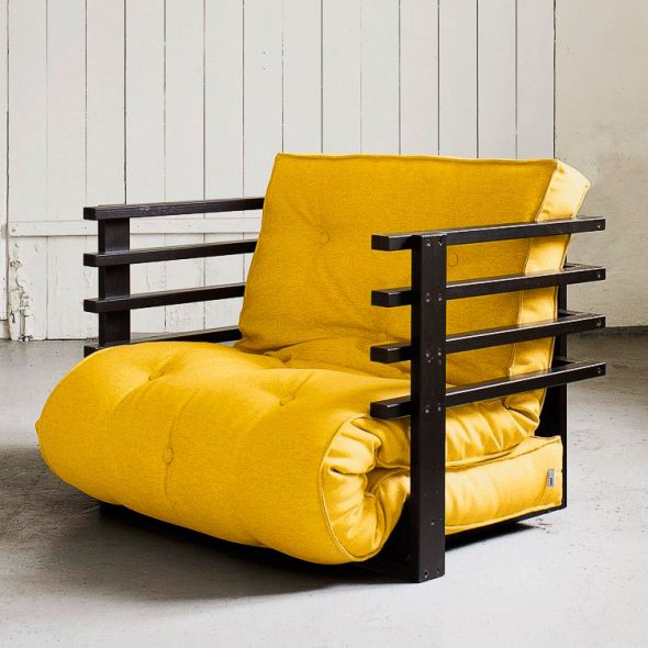 fauteuil-lit jaune