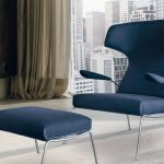 Chaise bleue anglaise