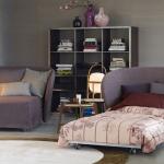 chaise de lit violet
