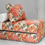 fauteuil-lit imprimé floral