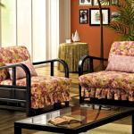 fauteuil-lit à imprimé floral