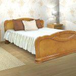 lit en bois de bouleau