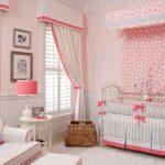 lit bébé rose