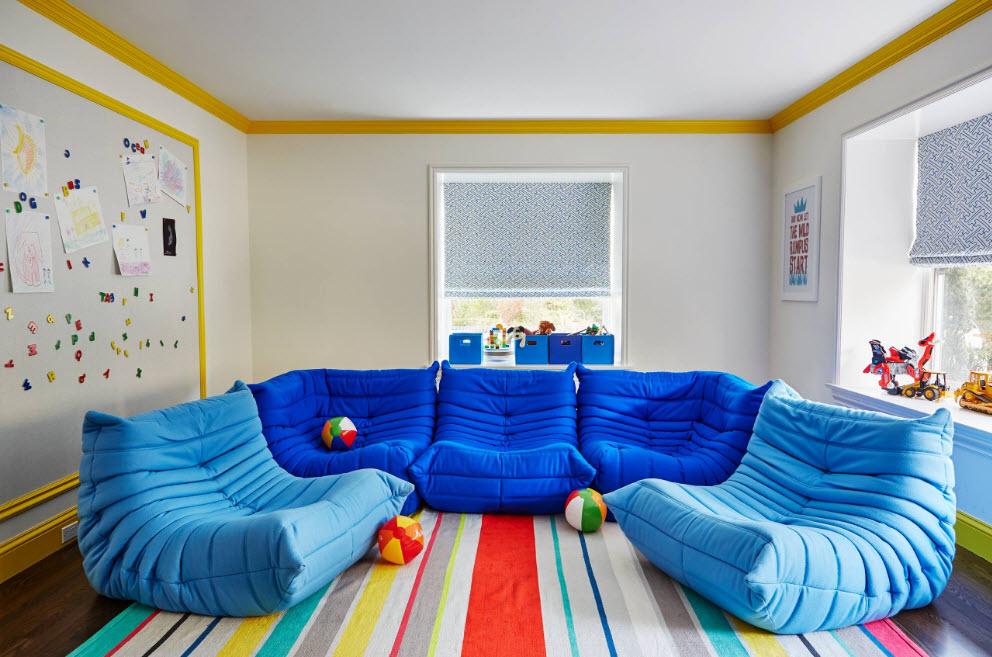 meubles sans cadre bleu