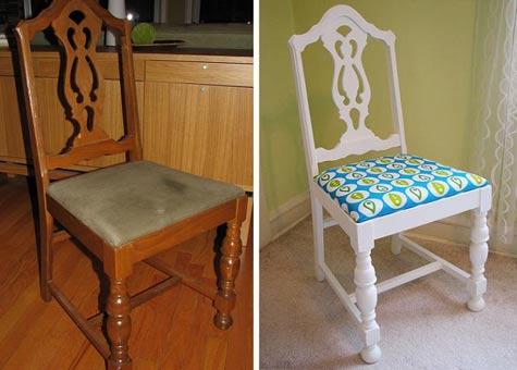 mettre la chaise dans la chambre