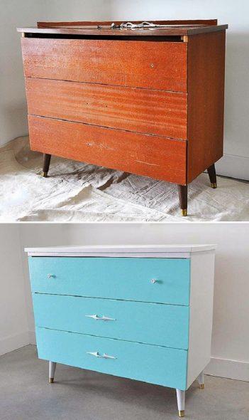 retravailler de vieux meubles avec vos propres mains avant et après