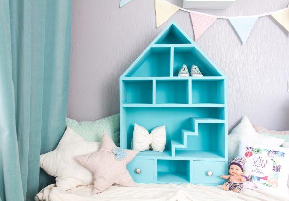 hyllyhuone sininen