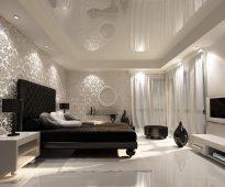 lit dans la chambre néoclassique
