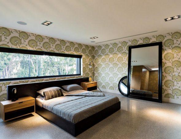 chambre avec grand miroir