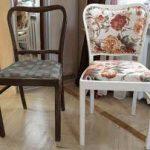 chaise avant et après restauration à faire soi-même
