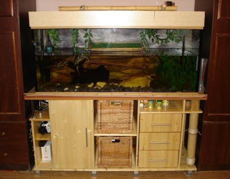 piédestal pour aquarium à l'intérieur