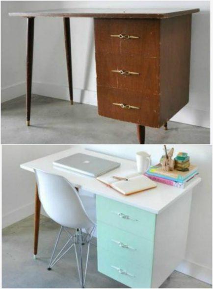 exemples inspirants de remaniement de vieux meubles