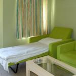 fauteuil-lit vert
