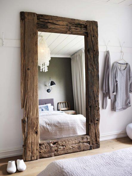 Grands miroirs de sol à l'intérieur