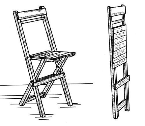 Nous fabriquons vous-même une chaise pliante en bois avec dossier.