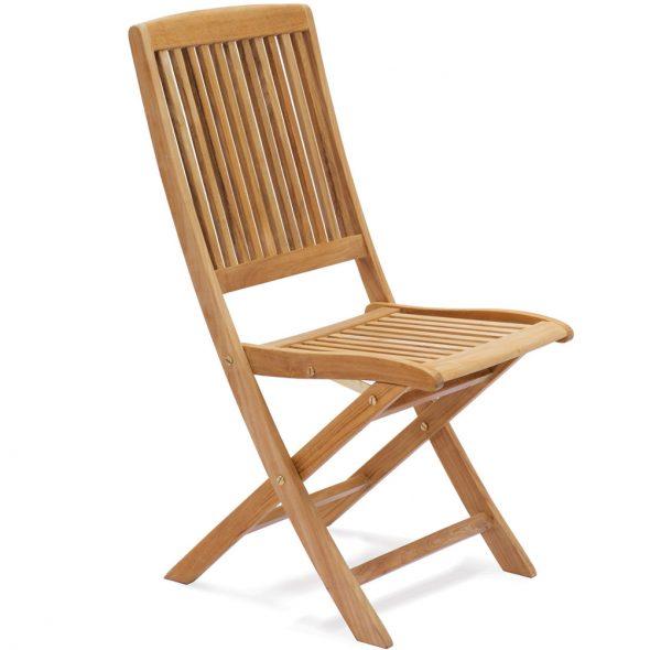 Chaise en bois sans accoudoir rabattable
